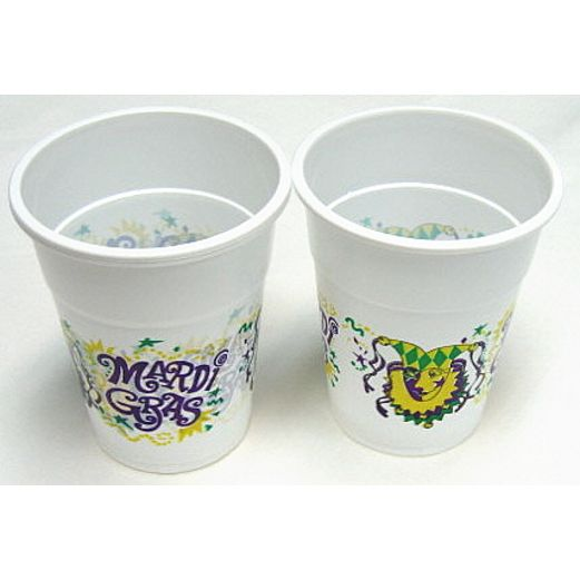 Mardi Gras Table Accessories Mardi Gras Plastic Cups Image