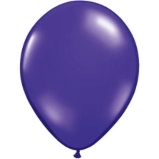 "Mardi Gras Balloons 16"" Qualatex Quartz Purple Balloons Image"
