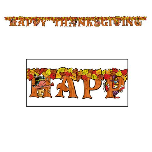 Thanksgiving Decorations Happy Thanksgiving Streamer Image