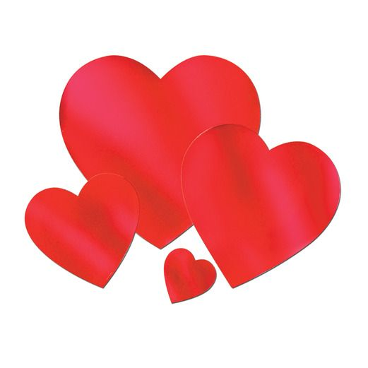 "Valentine's Day Decorations 12"" Red Foil Heart Image"