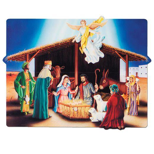 Christmas Decorations Nativity Sign Image