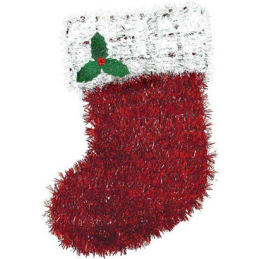 Christmas Decorations Tinsel Stocking Image