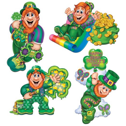 St. Patrick's Day Decorations Leprechaun Cutout Image