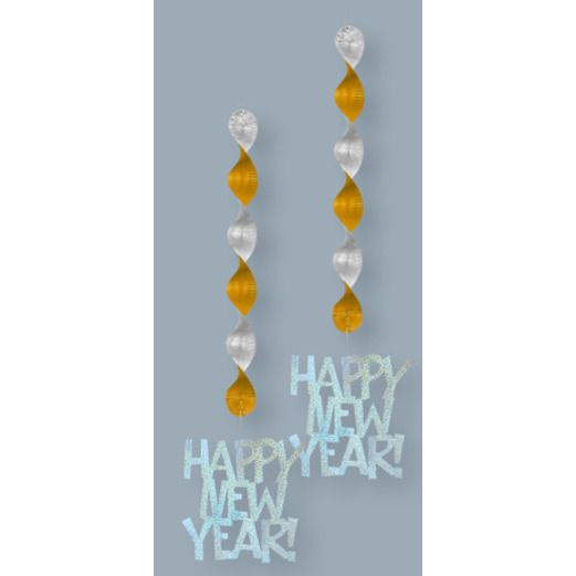 New Years Decorations Prism New Year Hanging Decorations Image