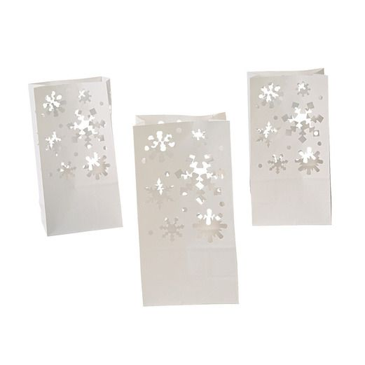 Christmas Decorations Paper Snowflake Luminary Bags Image