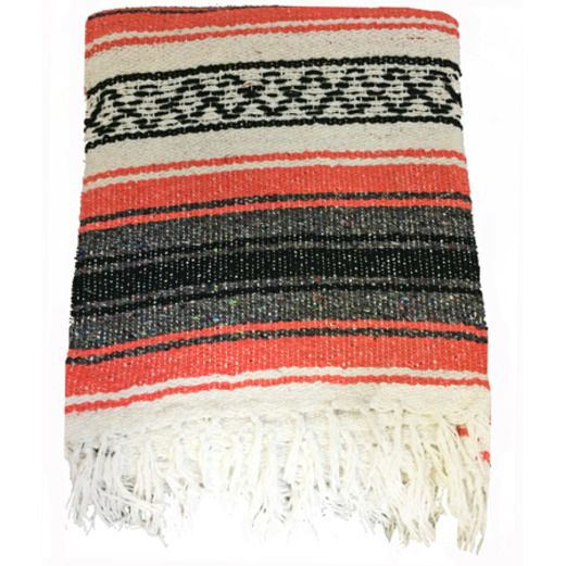 Fiesta Decorations Salmon Mexican Blanket Image