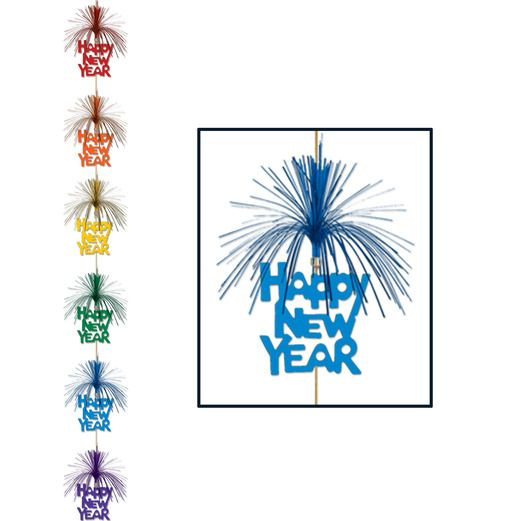 New Years Decorations Multicolor Happy New Year Firework Stringer Image