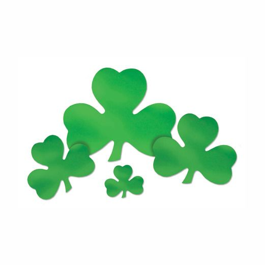 "St. Patrick's Day Decorations 16"" Foil Shamrock Cutout Image"