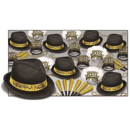 New Years Party Kits Gold Chairman Party Kit for 50 Image
