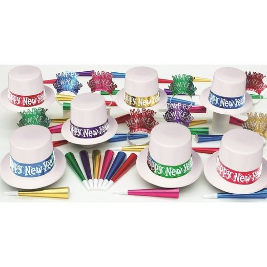 New Years Party Kits White Mystic for 50 Image