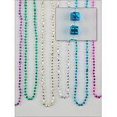 Mardi Gras Party Wear Dice Bead Necklaces Image