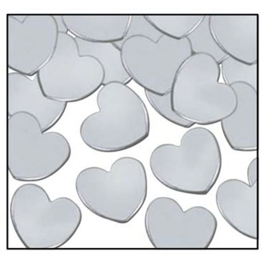 Wedding Decorations Silver Hearts Confetti Image