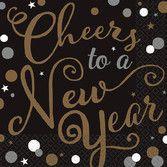 New Years Table Accessories Confetti Celebration Beverage Napkins Image