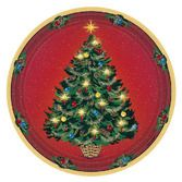 Christmas Table Accessories Warmth of Christmas Dinner Plates Image
