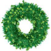Christmas Decorations Jumbo Tinsel Green Wreath Image