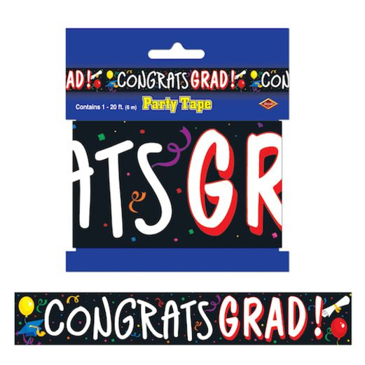 Graduation Decorations Congrats Grad Party Tape Image