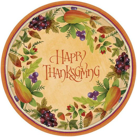 Thanksgiving Medley Dinner Plates  sc 1 st  Amols & Thanksgiving Party Supplies at Amolsu0027 Fiesta Party Supplies