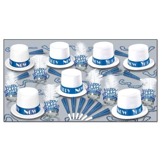 New Years Party Kits Arctic Blue for 50 Image
