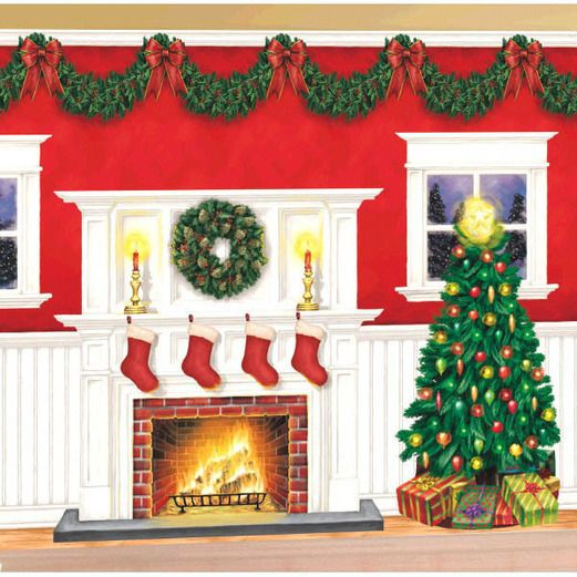 Christmas Decorations Christmas Scene Setter Image