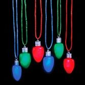 Christmas Party Wear Flashing Christmas Bulb Necklace Image