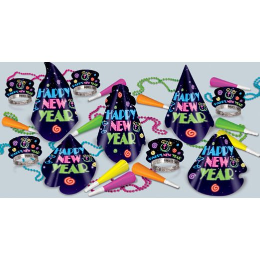 New Years Party Kits Neon Midnight Party Kit for 50 Image