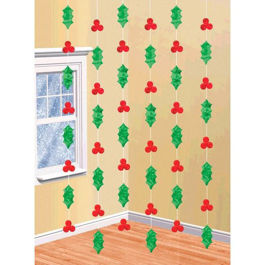 Christmas Decorations Holly Stringers Image