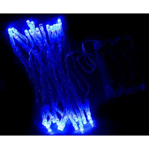 Glow Lights Blue Flashing String Lights Image