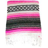 Fiesta Decorations Neon Pink Mexican Blanket Image