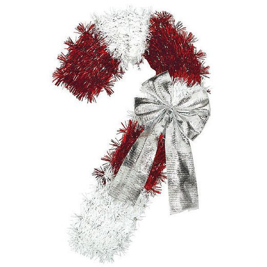Christmas Decorations Candy Cane Tinsel Image