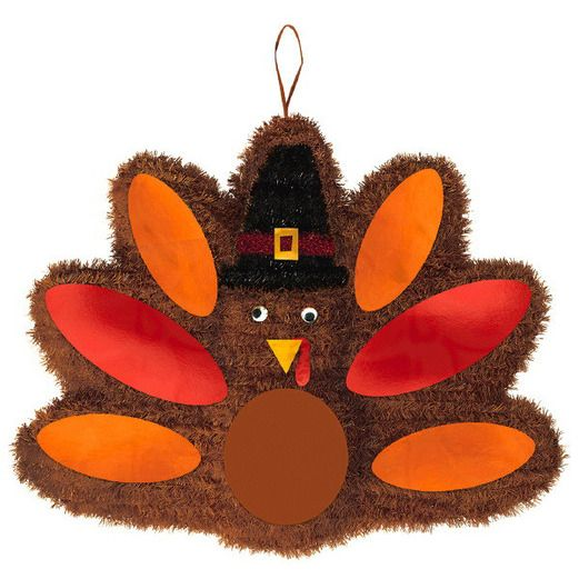 Thanksgiving Decorations Deluxe Tinsel Turkey Image