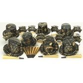New Years Party Kits Gold Ebony Party Kit for 25 Image