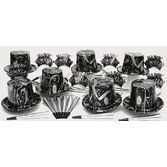 New Years Party Kits Silver Ebony Party Kit for 25 Image