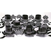 New Years Party Kits Black Starry Nights for 25 Image