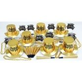 New Years Party Kits Gold Regal Party Kit for 25 Image