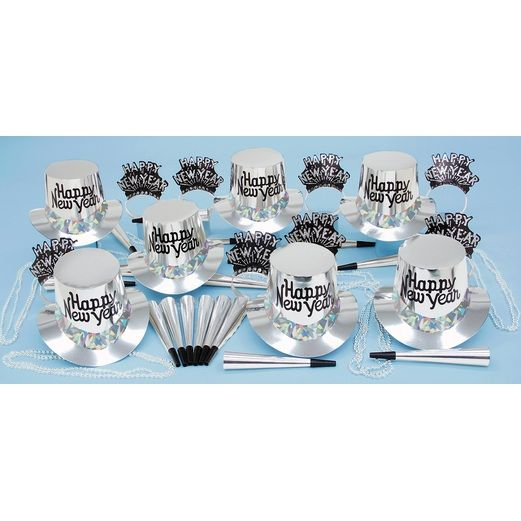New Years Party Kits Silver Regal Party Kit for 25 Image