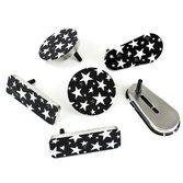 New Years Favors & Prizes Black and White Star Metal Noisemaker Image