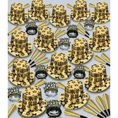 New Years Party Kits Gold Gem Star Deluxe for 100 Image
