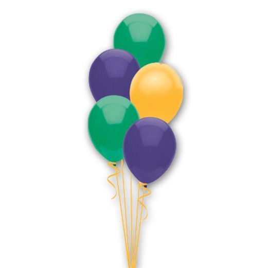 Mardi Gras Balloons Mardi Gras Balloon Assortment Image