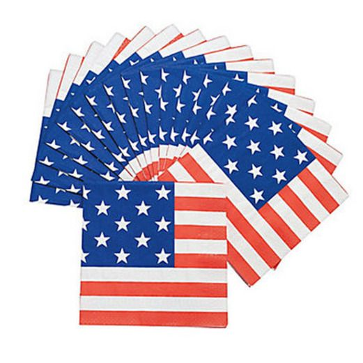 4th of July Patriotic Flag Lunch Napkins Image
