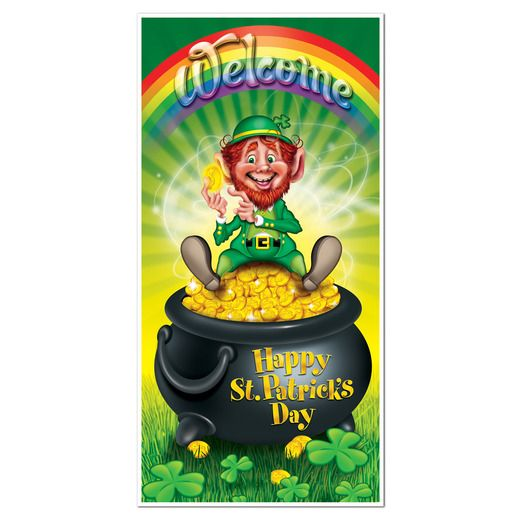 St. Patrick's Day Decorations Leprechaun Door Cover Image