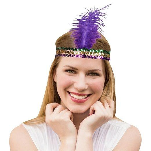Mardi Gras Party Wear Mardi Gras Sequin Flapper Headband Image