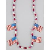 4th of July Party Wear USA Flag Bead Necklace Image