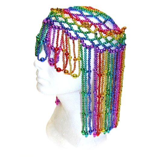 New Years Party Wear Rainbow Beaded Headpiece Image