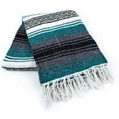 Cinco de Mayo Decorations Teal Mexican Blanket Image