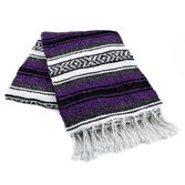Cinco de Mayo Decorations Purple Mexican Blanket Image