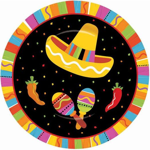Fiesta Table Accessories Fiesta Fun Dessert Plates Image