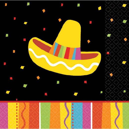 Fiesta Table Accessories Fiesta Fun Beverage Napkins Image