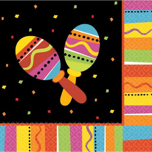 Fiesta Table Accessories Fiesta Fun Luncheon Napkins Image
