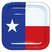 Western Table Accessories Texas Flag Plates Image