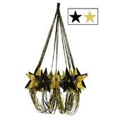 New Years Decorations Black and Gold Star Chandelier Image